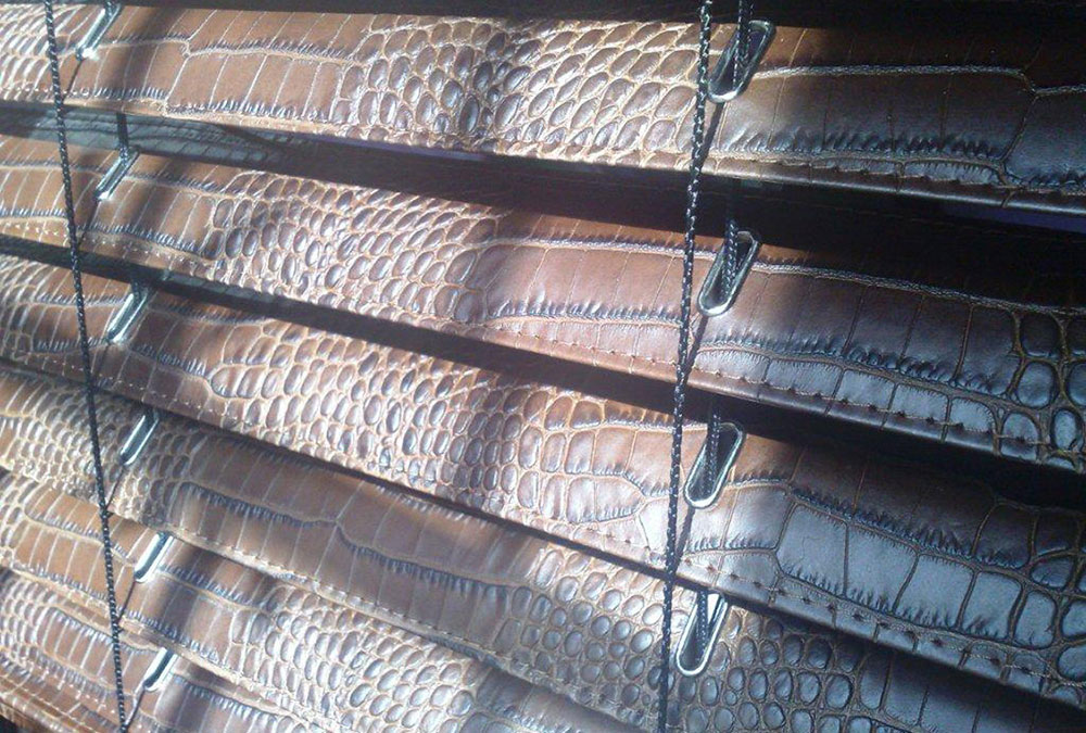 CROCO,LEATHER,VENETIAN,BLINDS,VENITIEN,CUIR,VENEZIANE,PELLE-COCCODRILLO
